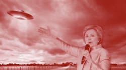 「UFOの極秘ファイルを開示する」ヒラリー・クリントン氏が前代未聞の選挙公約