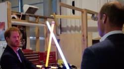 Harry et William ont rencontré Chewbacca et BB-8