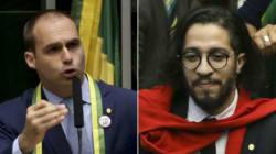 ASSISTA: Vídeo mostra que Eduardo Bolsonaro revida cuspe de Jean