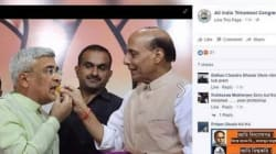 TMC Posts Morphed Photo Of Rajnath Singh, Blames The