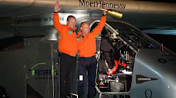 Solar-Powered Plane Touches Down In California After Three-Day Flight Over