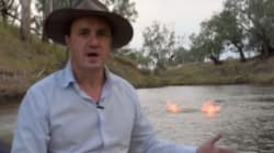WATCH: Greens MP Sets A River On Fire To Raise Awareness Of Dangers Of