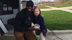 Little Girl Gives Favourite Garbage Man A Cupcake, Sets Friendship