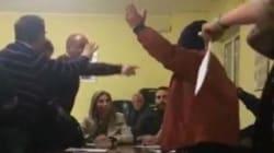 La riunione di centrosinistra per trovare il candidato finisce male: rissa in diretta