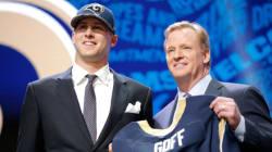 Les Rams de Los Angeles sélectionnent Jared Goff avec le premier
