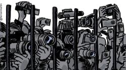 Queste 36 vignette spagnole raffigurano la triste condizione della libertà di stampa nel