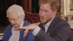 The Queen And Prince Harry Drop The Mic On The