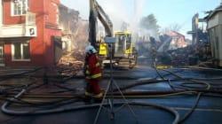 Incendie suspect au centre-ville de