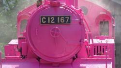 「ピンクSL」若桜鉄道に登場 蒸気機関車をこの色に塗り替えた理由があった(画像集)
