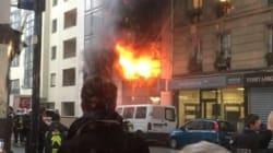 Les images impressionnantes d'un incendie rue de Charonne, à