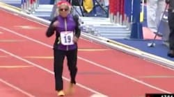 Questa donna di 100 anni ha corso 100 metri in un tempo