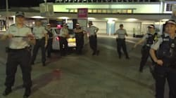 Cops Battle It Out In Epic Running Man Dance