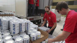 Labatt Brewery Cans Water For Fort McMurray