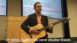 Ce prof partage sa passion pour Excel... avec une chanson de