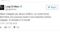 Quando Di Maio chiedeva le dimissioni di Alfano indagato per abuso