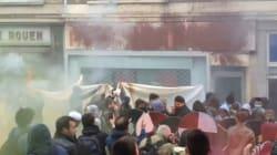 La façade du Parti Socialiste de Rouen saccagée pendant une