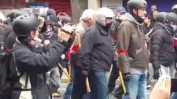 Ça ne s'est pas bien passé entre le service d'ordre des syndicats et des manifestants anti-loi