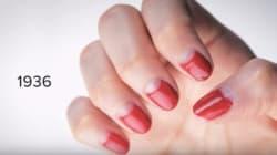 Voyez 100 ans d'histoire du vernis à ongles