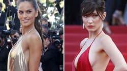 L'angelo di Victoria secret sfida lo spacco di Bella Hadid ma l'effetto è completamente