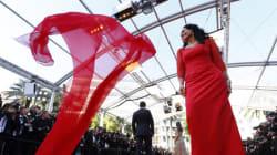 La robe virevoltante de l'actrice brésilienne Sonia Braga à