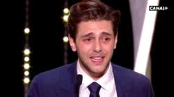 Xavier Dolan en larmes lors de son discours à