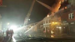 Incendie majeur au centre-ville de