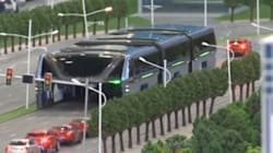Un bus géant enjambeur testé cet été en