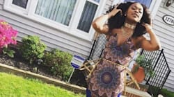 Cette robe de bal aux imprimés africains a été sujet à controverses: fou!
