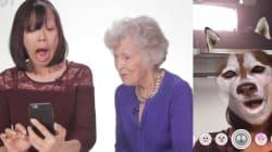 Ces grand-mères essayent les filtres Snapchat pour la première