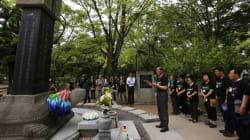 韓国人被爆者、広島で献花