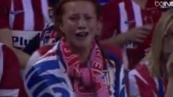 Cette supportrice (très) sensible de l'Atletico a amusé les