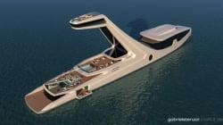 Un yacht avec une tour pour avoir une belle vue dans sa