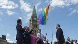 Pride Flag Raised On Parliament Hill For The First