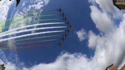 Le Frecce tricolori chiudono la Festa della