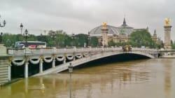 Le pic de l'inondation à Paris vu des réseaux