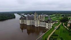 L'inondation du château de Chambord, en France, filmée par un