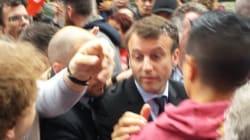Emmanuel Macron accueilli par des jets d'oeufs à