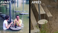 Les premières images de la décrue de la Seine montrent l'ampleur des