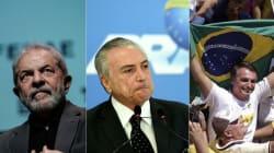 Lula lidera intenções de voto; Temer e Bolsonaro estão empatados em 5º