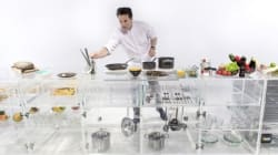 Une cuisine entièrement transparente