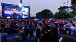 La Marseillaise vue de la fan zone à 360