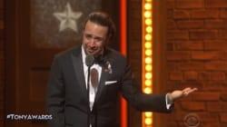 Il a remporté un Tony Awards et déclamé un poème poignant sur