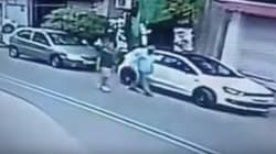 Horrific Footage Captures The Moment Of Impact As Car Rams Into Pedestrian In