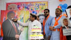 Hindu Sena Leaders Celebrating Donald Trump's Birthday Were As Ridiculous As Their
