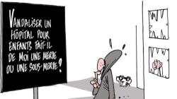 Ce dessin résume l'indignation des internautes après la dégradation de l'Hôpital Necker-Enfants