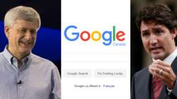 Le gouvernement libéral a supprimé les résultats de recherche Google menant à