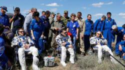 Trois astronautes reviennent sur terre