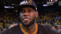 Les larmes de LeBron James après la victoire de