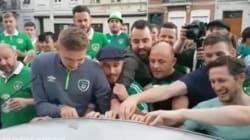 Quand les supporters irlandais abîment une voiture, ils font