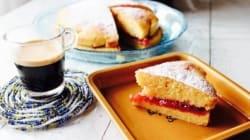 酸味がコーヒーにマッチする ビクトリアサンドイッチケーキ